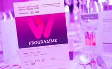 The WIFA programme on an awards table at the 2019 ceremony.