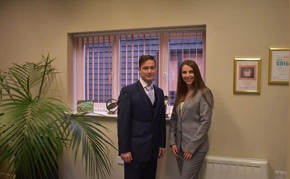 Gordon Kearney, managing director & financial planner, and Susie Laws, director and Chartered financial planner