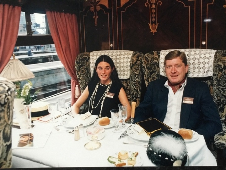 Walsh and his wife Ann at a Prudential function on the Orient Express around 1986.