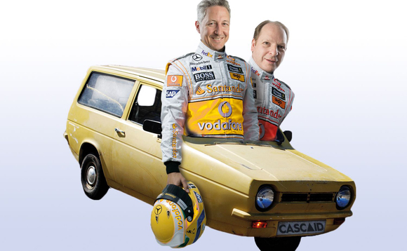 Rob Burdett and Gary Potter have embarked on their much-anticipated tour of Britain in a '98 Reliant Robin in aid of CASCAID and Cancer Research UK.