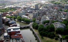 A bird's eye view of Bristol.
