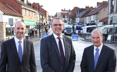 Pictured left to right: Stuart Dodson, Newcastle Building Society chief Andrew Haigh chief, and Andy Sharp.